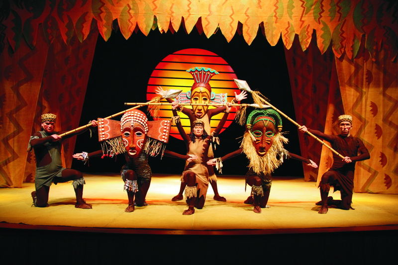 Foto tratta dal musical 'The Lion King'.